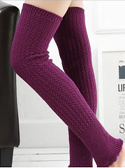 Flounce Knitting Boots Long Stocking Leg Warmers