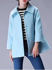 Manteau plaine col plaine