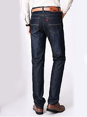 Casual Patch Pocket Straight Men's Jeans