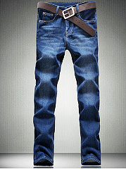 Patch-Pocket-Light-Wash-Straight-Mens-Jeans