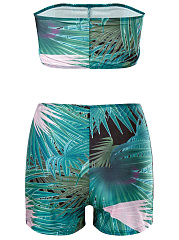 Strapless  Printed Swimwear