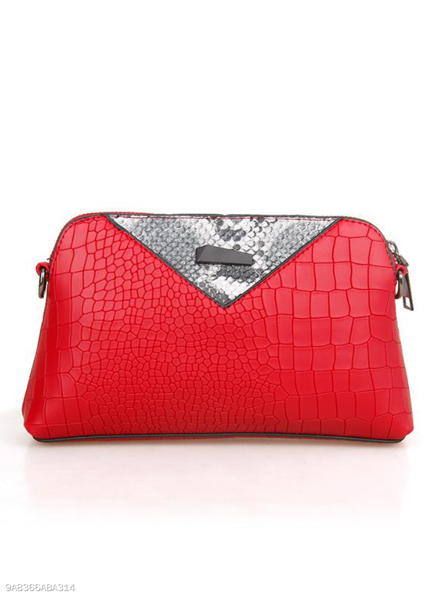Simple Stylish Patchwork  Zipper Clutches