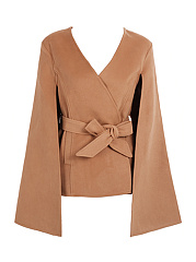 Belt  Plain  Cape Sleeve Cape