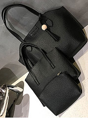 Three Pieces Plain Shoulder Bag