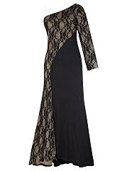 One-Shoulder-High-Slit-Evening-Dress