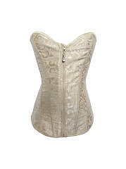 Women Sexy Body Shapers Lace Bustiers Zipper Waist Trimmer Corsets