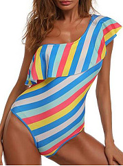 Zigzag Striped One Piece For Women