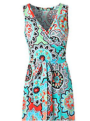 V-Neck  Abstract Print Plus Size Midi & Maxi Dress