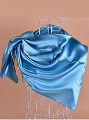 The New Pure Color  Satin   Cubes Scarf