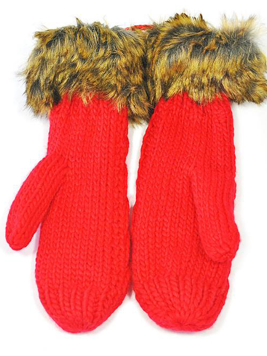 Soft  Halter Thick Knit Gloves