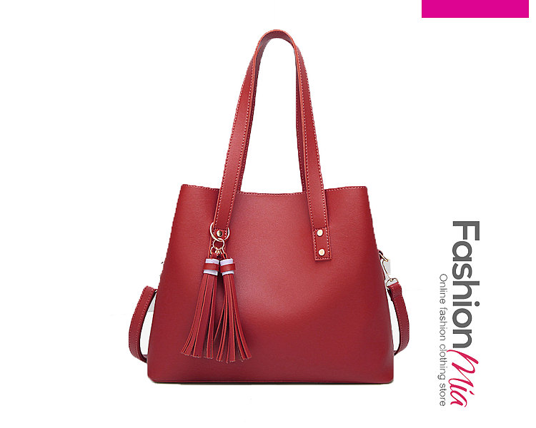 Red Decrotive Tassel Chic Women Shoulder Bags