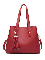 Red Decrotive Tassel Chic Women Shoulder Bags