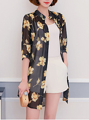 Snap-Front-Curved-Hem-Printed-Kimono