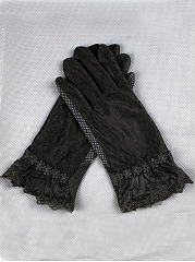 Plain Lace Floral Print Elegance Gloves
