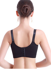 Front-Closure Cotton Adjustable Sport Bra