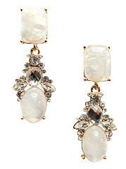 Imitation Stone Rhinestone Date Drop Earrings