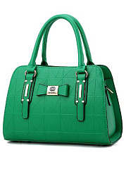 Elegant-Lady-Style-Plain-Bowknot-PU-Bag