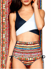 Backless  Bohemian  High-Rise Bikini