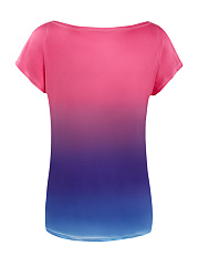 Colorful Gradient Short Sleeve T-Shirt