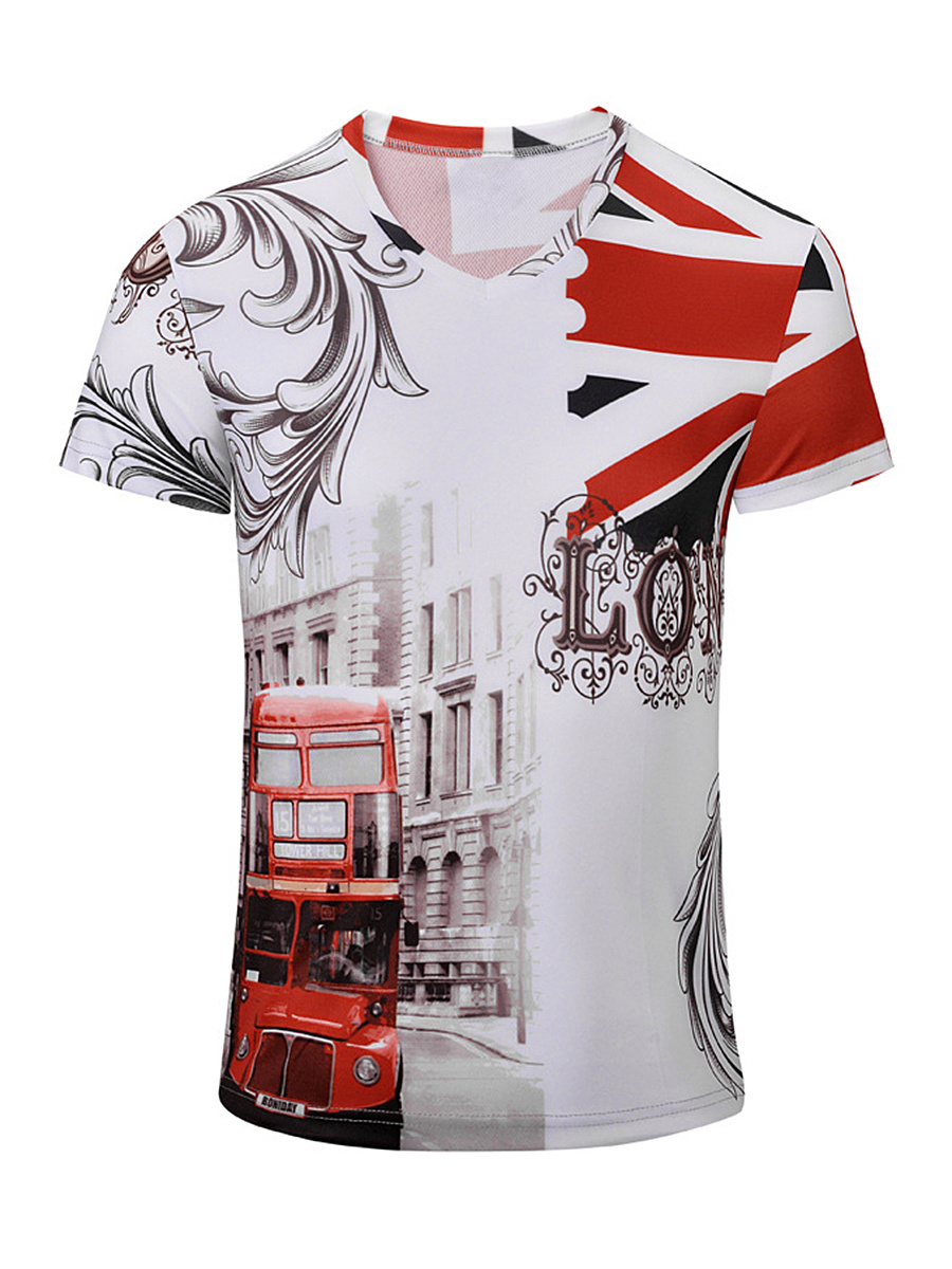 Breathable Casual Short Sleeve Printed T-Shirt