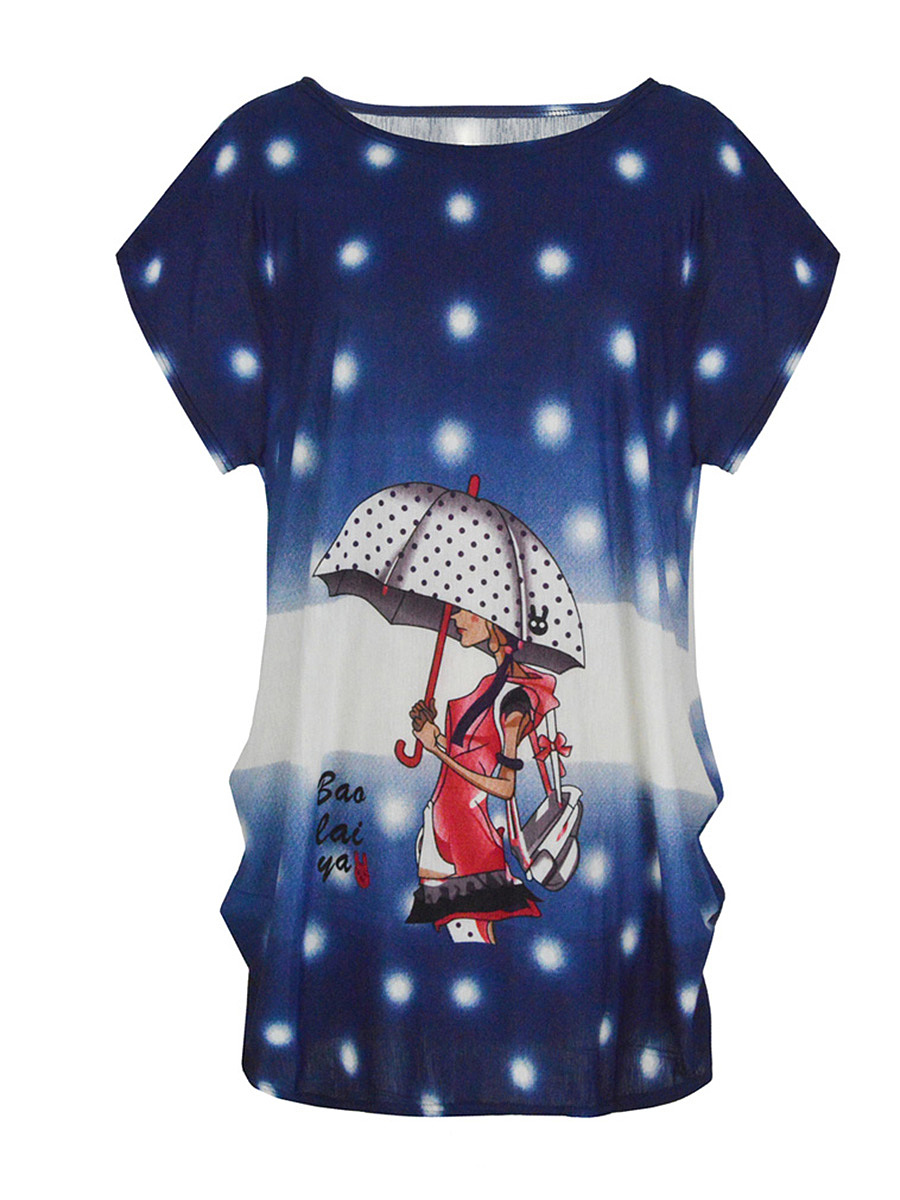 Polyester Cartoon Polka Dot Printed