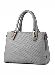 Cross Embossed Big Capacity Shoulder Bag