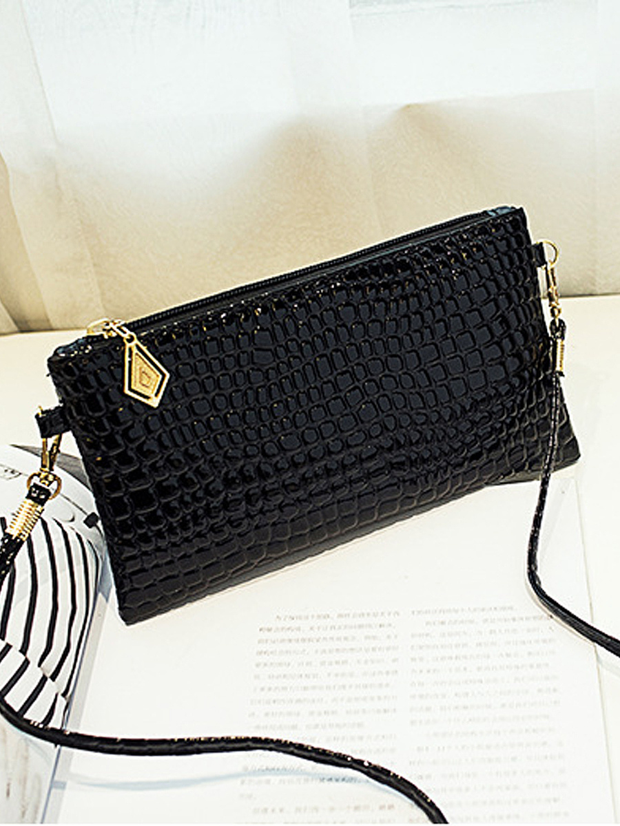 Small Crocodile Pattern Pu Shoulder Bag