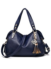 Big Capacity Tassel Pu Shoulder Bag