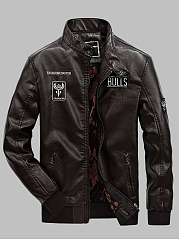 Band-Collar-Printed-PU-Leather-Men-Biker-Jacket