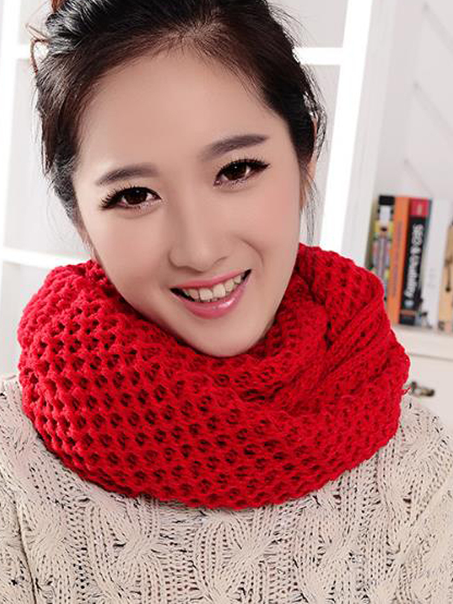 Winter Knitted Wool Warm Collar Scarves