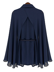Two Way Plain Cape Sleeve Blouse