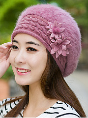 Lady Elegance  Fashion Faux Fur Plain Hats For Winter Women