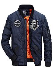 Band-Collar-Badge-Pocket-Men-Padded-Bomber-Jacket