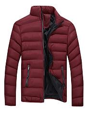 High-Neck-Pocket-Quilted-Plain-Men-Padded-Coat