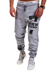 Men's Casual Letters Number Printed Jogger Pants