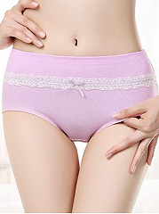 Cute Lace Bowknot Comfortable Seamfree Cotton Panties