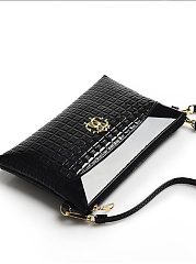 Mature Stylish Delicate Zipper Decoration Clutches