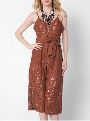 Solid-Hollow-Out-Spaghetti-Strap-Pocket-Lace-Midi-Romper