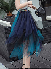 Gradient Knee-Length Skirts For Women