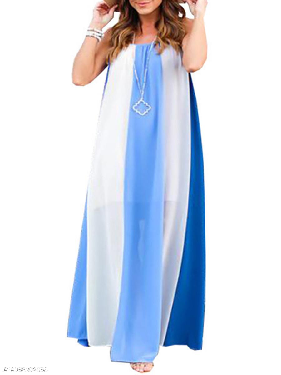 b039c618afb1d Spaghetti Strap Striped Plus Size Midi   Maxi Dresses - fashionMia.com