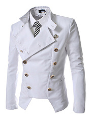 Band-Collar-Double-Breasted-Plain-Men-Coat