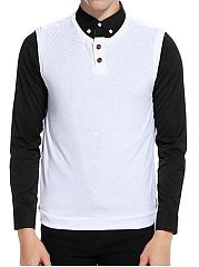 Men-Plain-Henley-Collar-Sleeveless-Knitwear