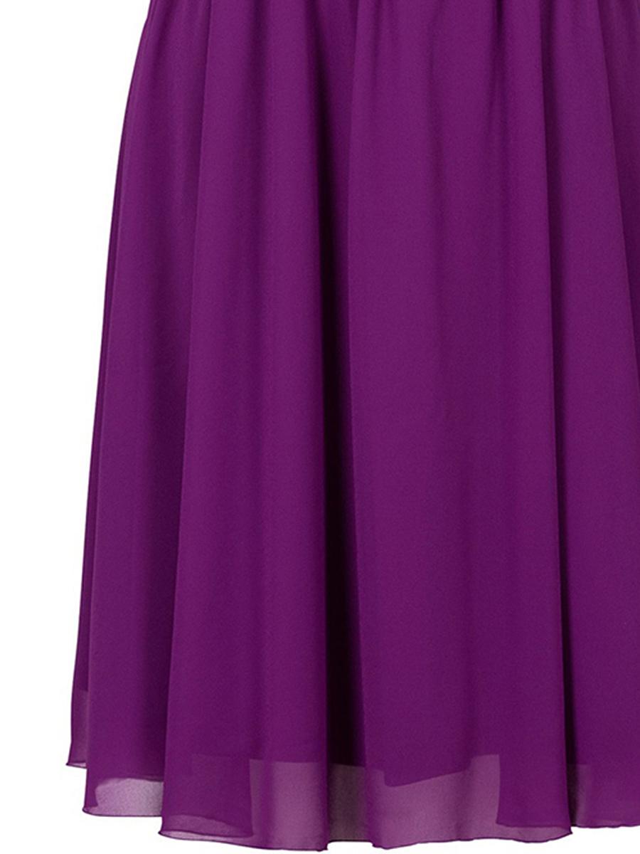 Spaghetti Strap Glitter Plain Skater Dress