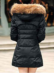 Hooded Pocket Longline Quilted Padded Coat