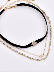 Imitated Crystal Chocker Necklace