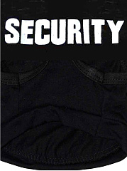 SECURITY Letters Printed Dog Shirt
