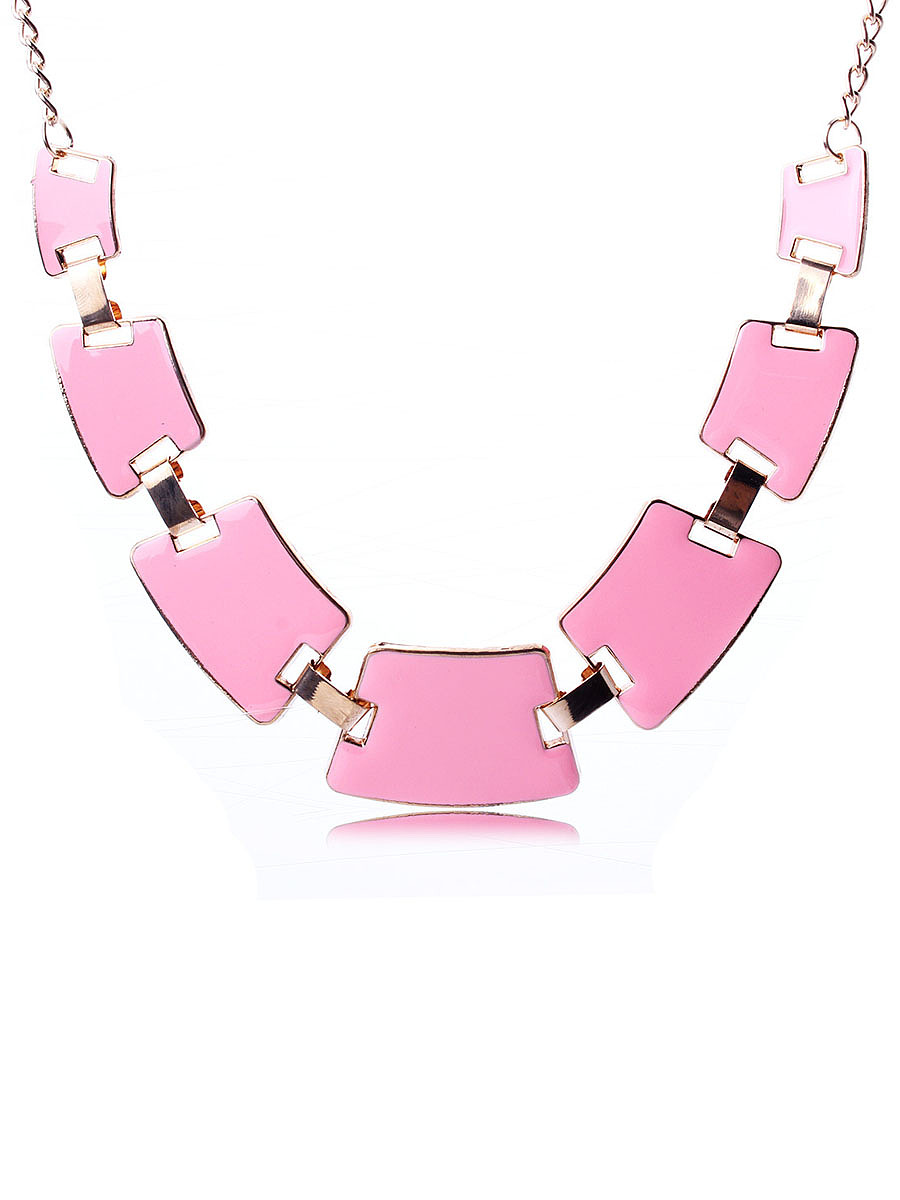 Geometric Candy Color Necklace