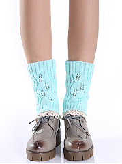 Lace Edge Knit Socks