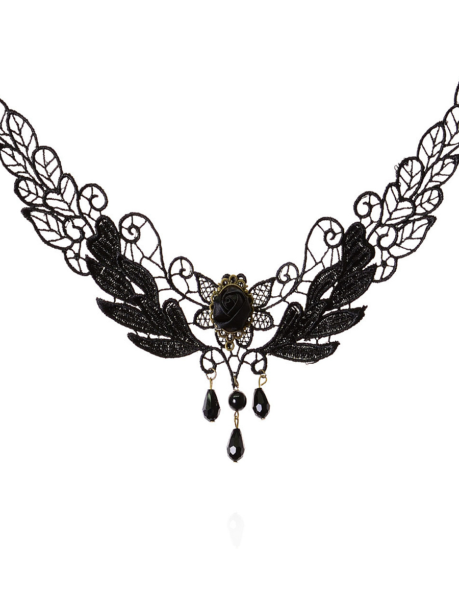 Wing Shape Lace Necklace