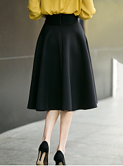 Black Swing Midi Skirt